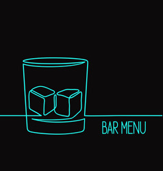 Linear whiskey glass vector