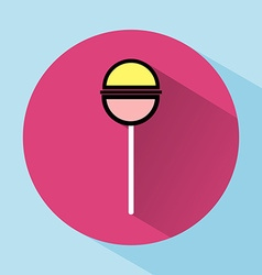 Lollipop Colorful round icon vector image