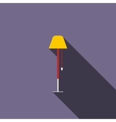 Long floor lamp icon flat style vector