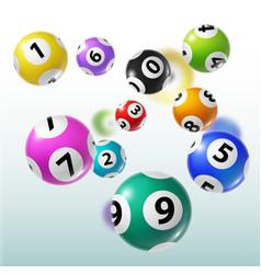 Lottery balls of bingo lotto keno gambling games vector