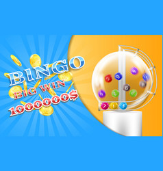 lottery banner bingo game background vector image