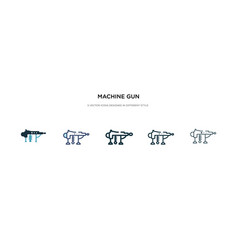 Machine gun icon in different style two colored vector