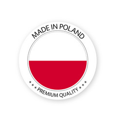 Modern made in poland label vector