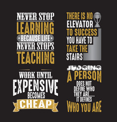motivation quote and saying set for graphic goods vector image