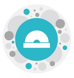 of bureau symbol on cd icon vector image