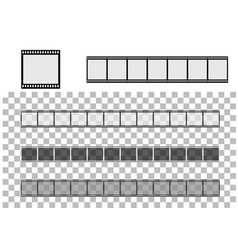 photographic film on transparent vector image