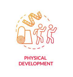 Preschoolers physical development concept icon vector