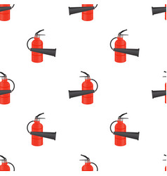 Red metallic extinguisher seamless pattern vector