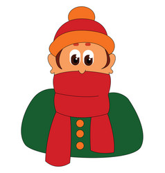 Red scarf or color vector