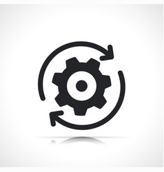 Reset or update simple icon vector