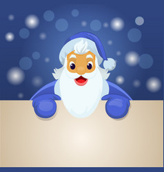 santa claus with big signboard vector image