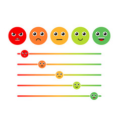 satisfaction rating set of feedback icons in form vector image