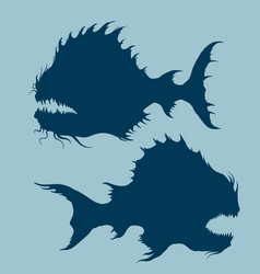 Sea monsters set vector