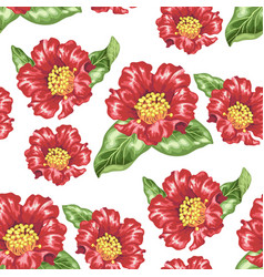 Seamless pattern in with blooming pomegranate vector