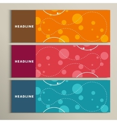 Set of color round for abstract design vector image
