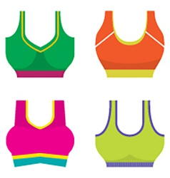 Set Of Colorful Women Sport Bra vector image