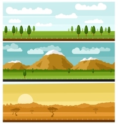 Set of picturesque landscapes vector image