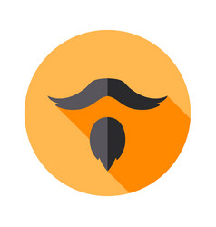 Set of types of beards goatee hipster icon vector