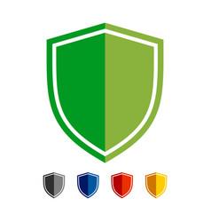 shield basic shape symbol design vector image