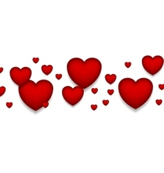 St Valentines Day abstract red hearts background vector image