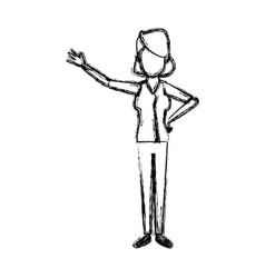 standing woman cartoon person gesturing image vector image