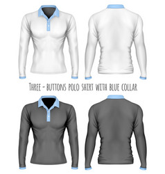 three-button placket polo vector image