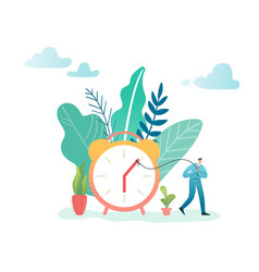 time management business process optimization vector image