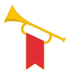 Trumpet with flag vector