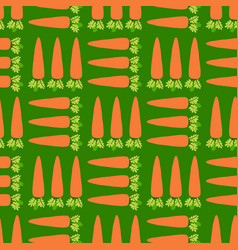 vegetable carrot field seamless pattern vector image