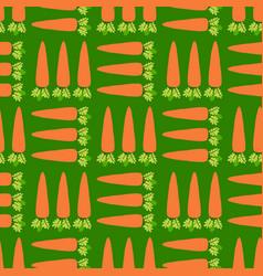 Vegetable carrot field seamless pattern vector