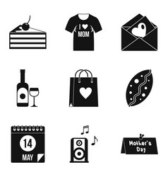 very tasty icons set simple style vector image