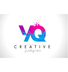 yq y q letter logo with shattered broken blue vector image