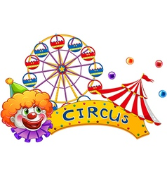 A clown at the circus show vector image vector image