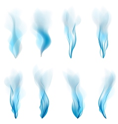 abstract Smoke blue background abstract white vector image vector image