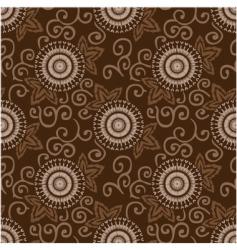 decorative circles pattern vector image vector image