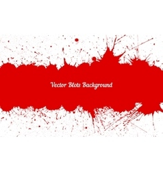 red ink splashes with space for text over vector image