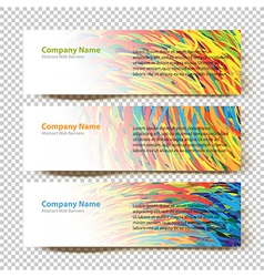 abstract banners white vector image
