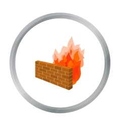 Firewall icon in cartoon style isolated on white vector image