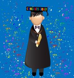 Graduation celebration vector image