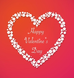 Happy Valentines Day Background with Heart Love vector image