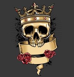 King of skull vector