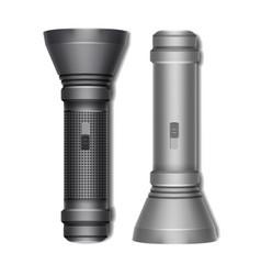 set of two flashlights vector image