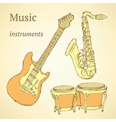 Sketch musical instrument vector image