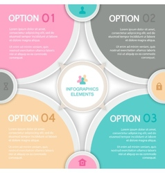 Abstract elements of infographics vector image vector image