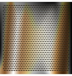 Chrome plated bronze sheet metal vector image vector image