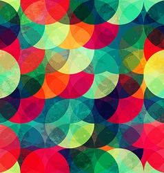 colorful circle seamless pattern with grunge vector image