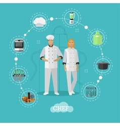 Cooking chefs characters in vector image vector image