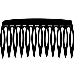 Hair comb vector image