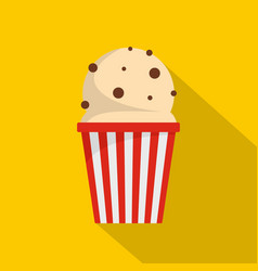 popcorn icon flat style vector image