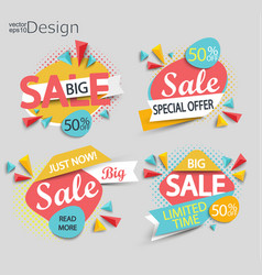 sale - set of labels vector image